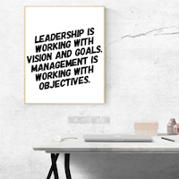 leadership is vision large